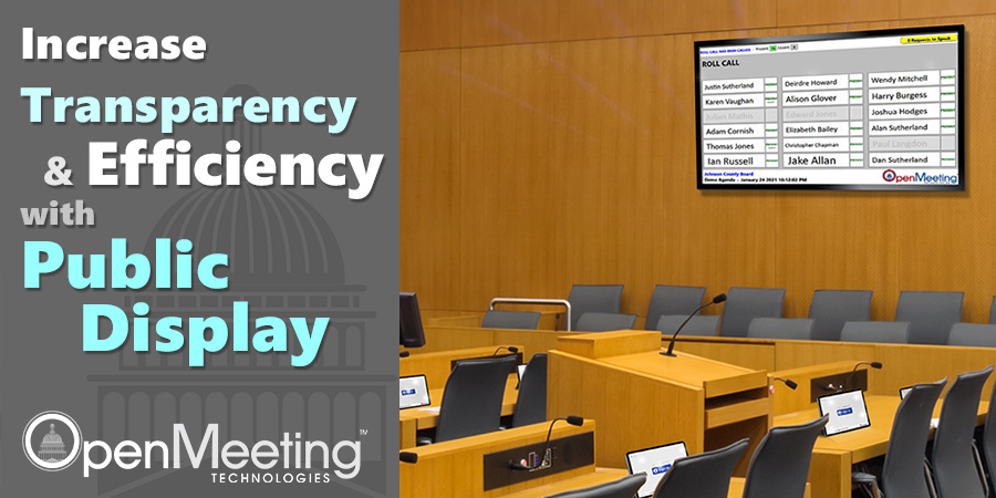 Increase Transparency and Efficiency with Public Display